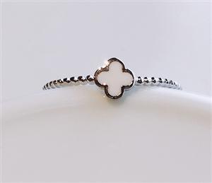 white Clover Ring