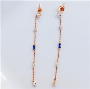 Rose Gold Long Earring
