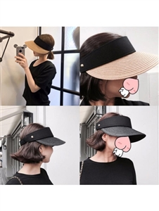 Sun Cap (Black/Beige/White/Ivory) (will ship within 1~2 weeks)