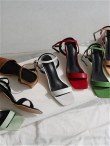 Strap Sandals (White/Black/Beige/Brown/Wine/Green/Mint) (225~250) (will ship within 1~2 weeks)
