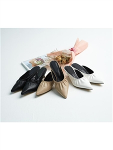 Vivian Mule (Beige/Black/White) (225~250) (will ship within 1~2 weeks)
