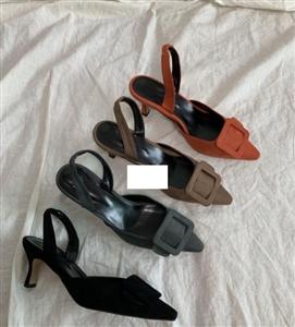 MN Sling Back Heels (Black/Brown/Khaki/Orange) (225~250) (will ship within 1~2 weeks)