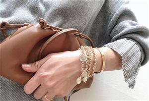 Luxe Coin Bold Bracelet (will ship within 1~2 weeks)