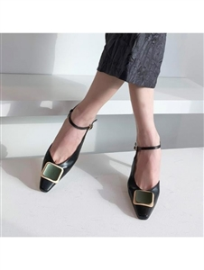High Quality Sling Back (Black/Ivory) (230~250) (will ship within 1~2 weeks)
