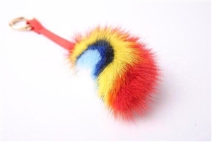 Mink Fur Key Chain (SmileFace/Eyes/Rainbow) (will ship within 1~2 weeks later)