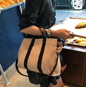 Calf Leather Tote (Black/Ivory/Brown/Green/Blue) (will ship within 1~2 weeks later)