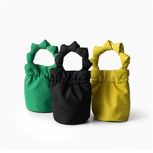 Satin Mini Tote (Black/Green/Yellow/Navy) (will ship within 1~2 weeks)