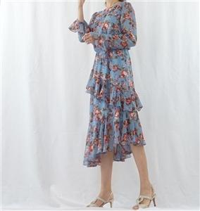 (Best; 3rd Reorder) SkyBlue Cancan Ruffle Dress