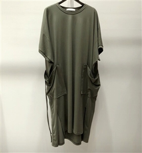 (Pre-Order) Pocket Dress (Ivory/Khaki/Charcoal/Black) (will ship within 1~2 weeks)