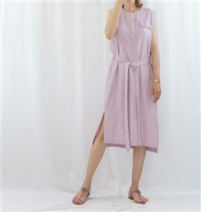 (Pre-Order) Pink Linen Dress (will ship within 1~2 weeks)