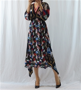 (~01/23) Print Unbalanced Dress (M/L) (will ship within 1~2 weeks)