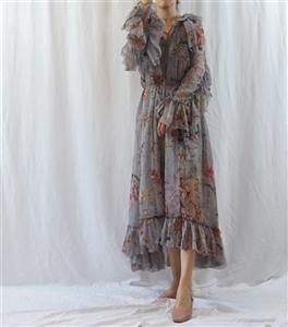(~02/15) Zimmer Mercer Dress (PinkBeige/Gray) (will ship within 1~2 weeks)