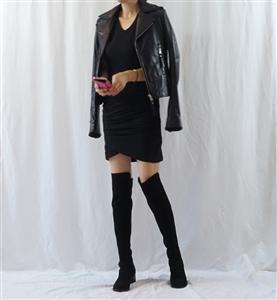 (~02/16) Iro Ginger Dress (Ivory/Gray/Black) (S/M) (will ship within 1~2 weeks)