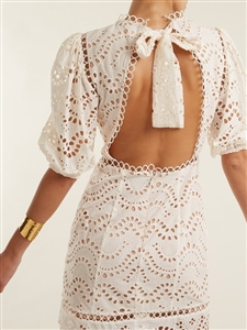 Zimmer Lace Dress (Wine/Ivory) (S/M) (will ship within 1~2 weeks)