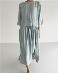 Marni Loose Fit Dress (Black/Sky/Cream) (will ship within 1~2 weeks)