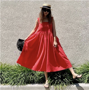 Red Summer Soft Dress (will ship within 1~2 weeks)