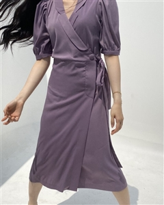 Louis Dress (Black/Violet) (will ship within 1~2 weeks)