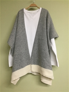 (Best; Back-Order; 2nd Reorder) Gray Shawl Cardigan