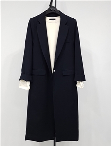 (Pre-Order) Stylish Long Jacket Coat (Beige/Gray/DarkNavy) (will ship within 1~2 weeks)