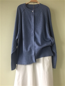 (Pre-Order) Blue Knit Cardigan (will ship within 1~2 weeks)