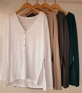 (Pre-Order) Linen Color Cardigan (ivory/Green/Beige/Charcoal/Black/Mustard/Camel) (will ship within 1~2 weeks)