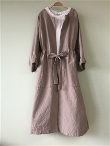 (Best; 2nd Reorder) Beige Washing Cotton 100 Coat