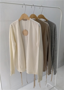 (~11/04) Gold Line Cashmere Cardigan (Beige/Gray/Ivory) (will ship within 1~2 weeks)