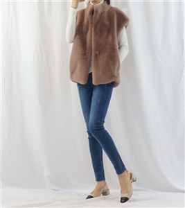(~12/15) Luxury Label Eco Fur Vest (Mocha/Black/Ivory/Brown) (will ship within 1~2 weeks)
