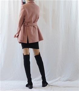 (Best; Back-Order) Celine Style Jacket (Pink/Gray) (will ship within 1~2 weeks)