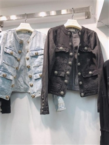 Jean Jacket (Blue/Black) (55/66) (will ship within 1~2 weeks)