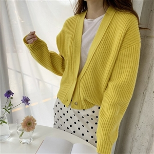 Marant Cardigan (Gray/Beige/Khaki/Yellow) (will ship within 1~2 weeks)