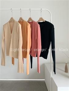 Spring Color Cardigan (Beige/Black/Orange/Pink) (will ship within 1~2 weeks)