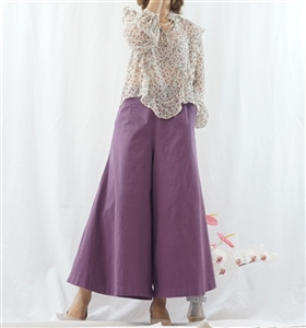 (Pre-Order) Purple Skirt Pants (will ship within 1~2 weeks)