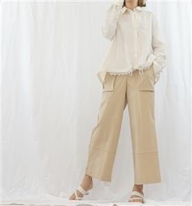 (Pre-Order) Beige Big Pocket Pants (will ship within 1~2 weeks)
