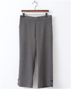 (Pre-Order) Gray Side Button Pants (will ship within 1~2 weeks)