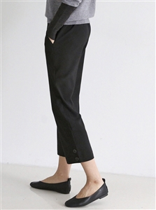 (Pre-Order) Black Side Button Pants (will ship within 1~2 weeks)