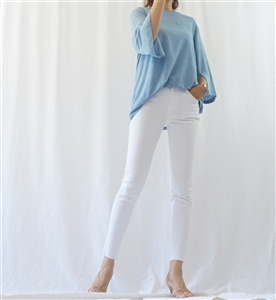 (Must-Have; Pre-Order) White Skinny Jeans (S/M/L) (will ship within 1~2 weeks)
