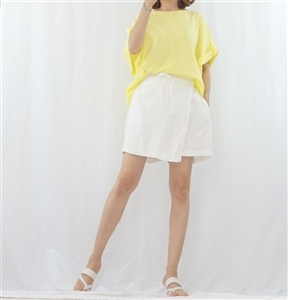 (Summer Special; Best; Back-Order; 3rd Reorder) Wrap Skirt Pants (F/L) (White/Green/Beige/Black) (will ship within 1~2 weeks)