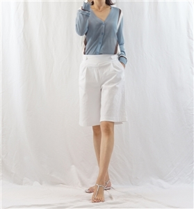 (Best; 2nd Reorder) White 1/2 Pants (F)