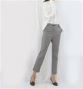 (Best; Back-Order; 2nd Reorder) Gingham Formal Pants (S/M/L) (will ship within 1~2 weeks)
