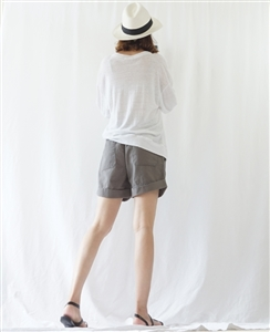 (BeachDaySpecial; Best; 2nd Reorder) Charcoal Washing Cotton Short Pants