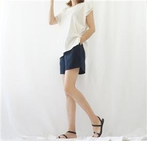 (Best; 2nd Reorder) Navy Linen Short Pants