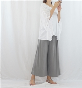 (Pre-Order) Gray Easy Wide Pants (will ship within 1~2 weeks)
