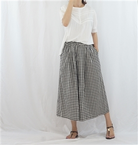 (Best; 3rd Reorder) Gingham Skirt Pants