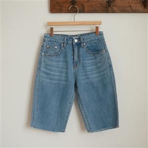 Biker Denim Shorts (55/66) (will ship within 1~2 weeks)