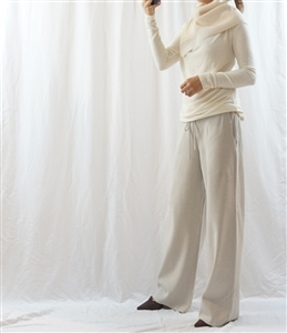 Beige Cashmere Knit Pants (will ship within 1~2 weeks)