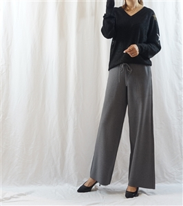 (Big Sale) Gray Cashmere Knit Pants (will ship within 1~2 weeks)