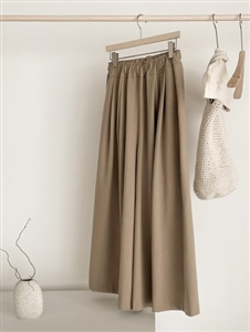 Wide Pants (Beige/Brown/Black) (will ship within 1~2 weeks)