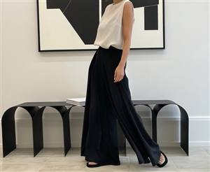 Black Cool Celine Wide Pants (will ship within 1~2 weeks)