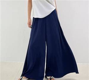 Navy Cool Celine Wide Pants (will ship within 1~2 weeks)